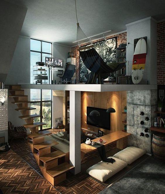 loft masculino tendencia decorativa